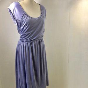 Garnet Hill Sleeveless Draped Lavender Dress 6